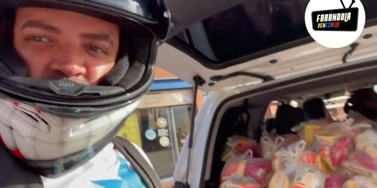 Nacho regaló en Margarita mas de 500 bolsas de alimentos