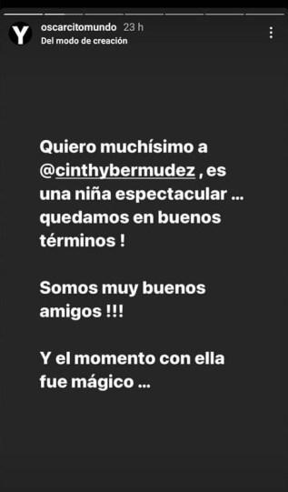 Historia de Instagram de Oscarcito