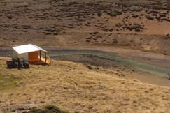 New cabin at Upper Capitan River.