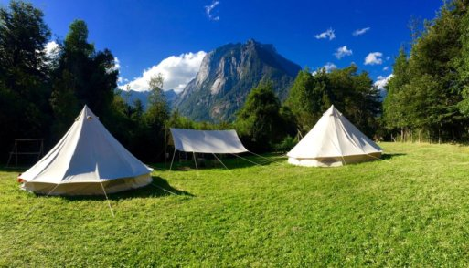 Camping or glamping? The accommodations at the camp!