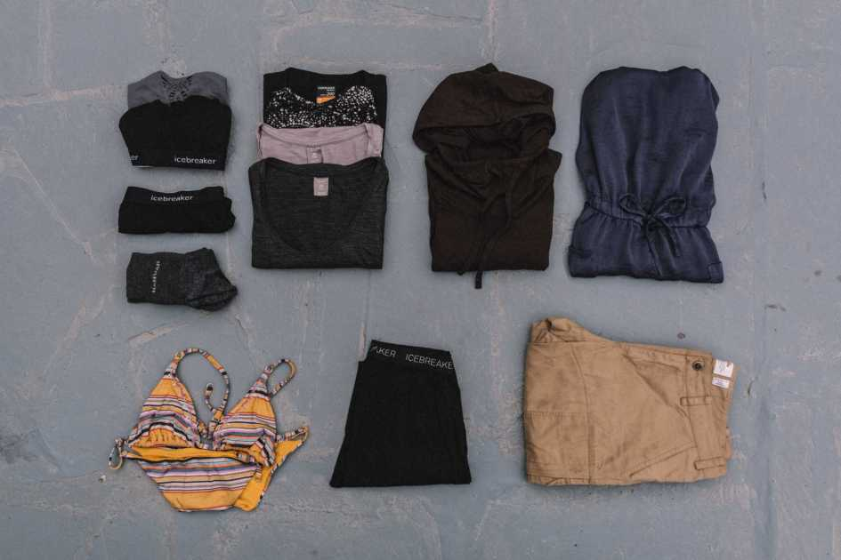 Off the bike women's bikepacking clothes