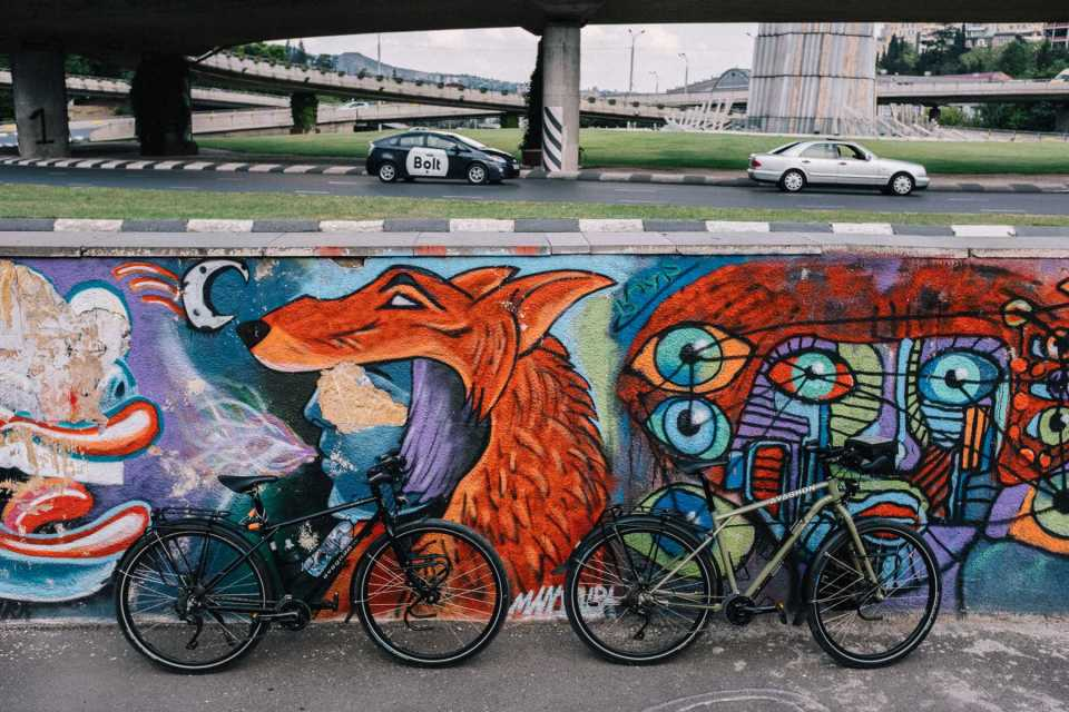 Avaghon touring bicycles in Tbilisi, Georgia