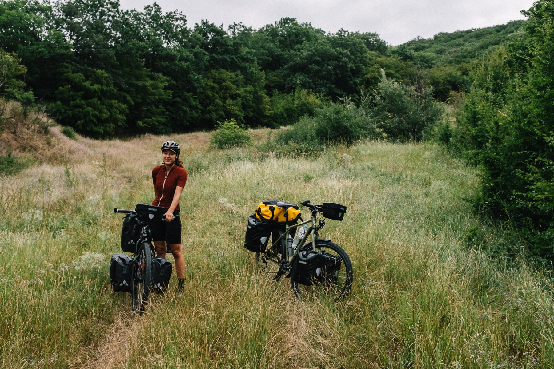 Taking a break on the Bikepacking.com route in Georgia