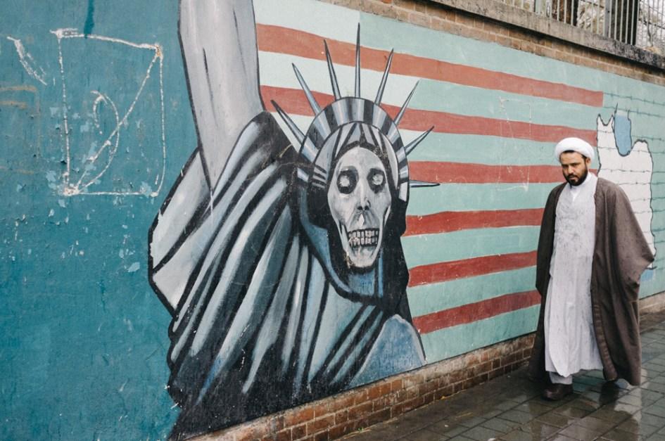Graffiti at the American embassy