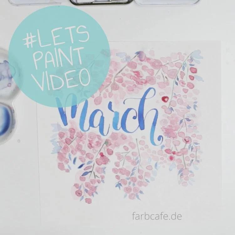 LetsPaint Handlettering Kalender mit Watercolor Florals