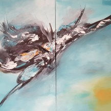 Acryl auf Canvas - Raven
