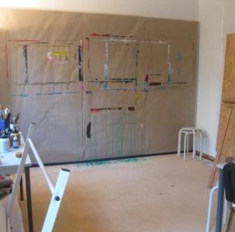 Genug Platz zum Malen in der Praxis Atelier farbenfroh