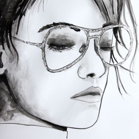 Kristen Stewart for Chanel Eyewear Illustration