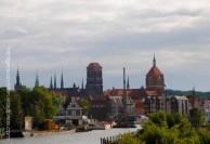 Blick vom Hafen auf Danzig.