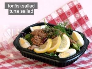 Tonfisksallad tuna sallad - Farbror Nikos café och restaurang i Stockholm