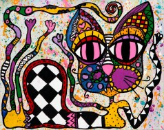 Pink Eye - tavla av Katja Wulff