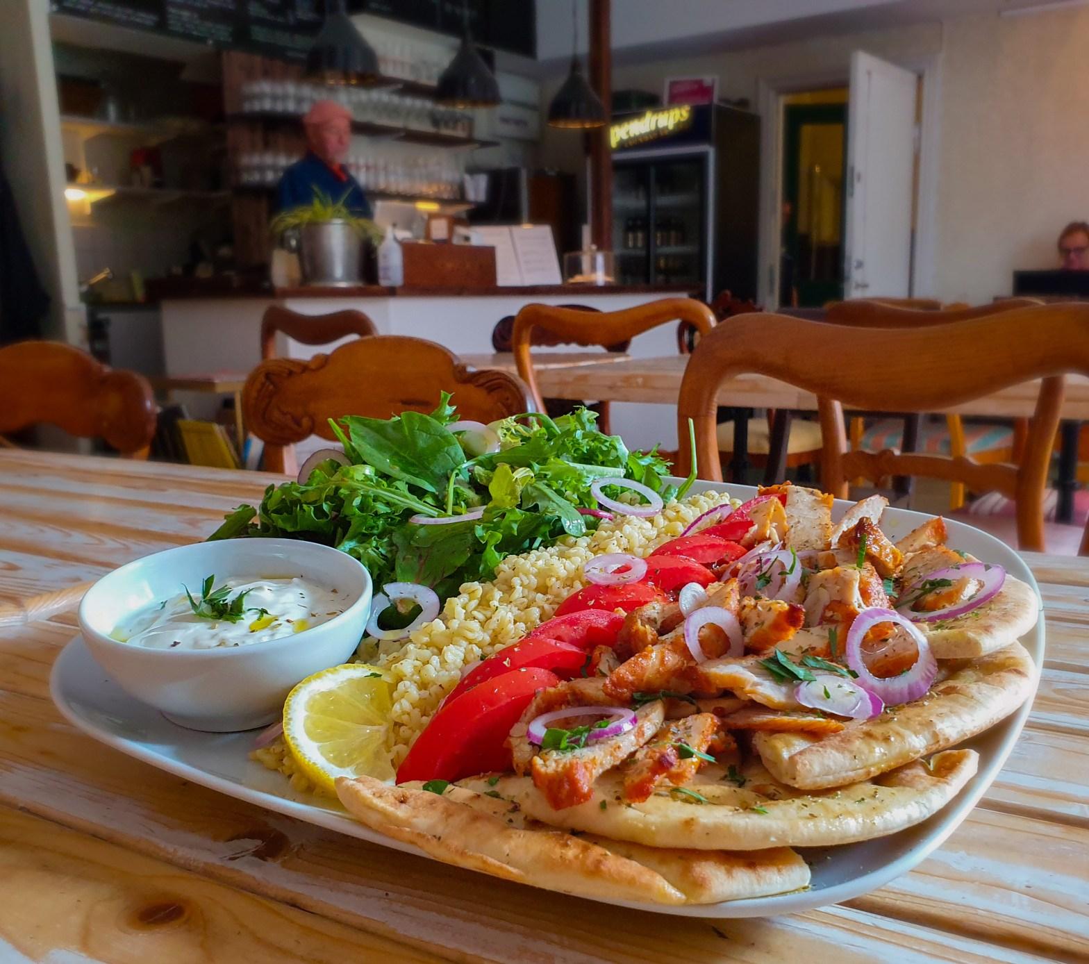 Grekisk kycklingkebab