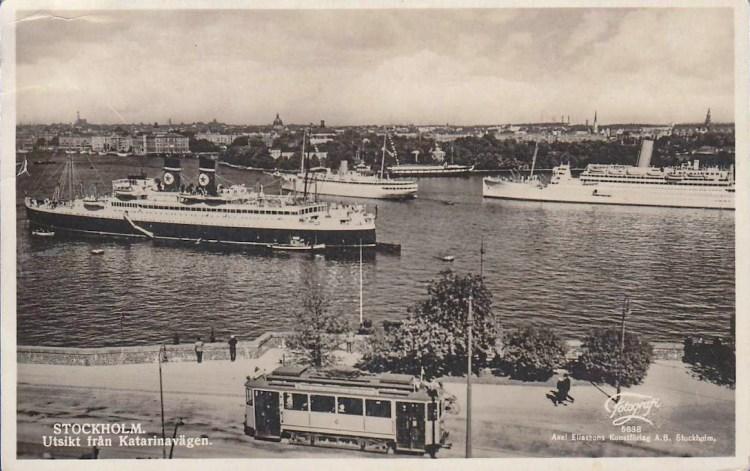Historisk bild med utsikt från Katarinavägen