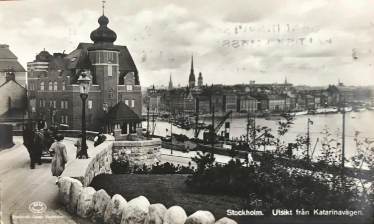 Utsikt från Katarinavägen mot Slussen, Stadsgården och Gamla stan