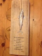 Fisch mit Gedicht