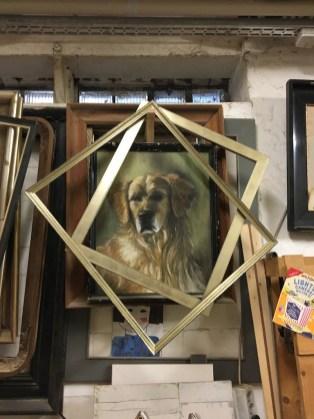 Rusty, mein erster Hund, Pastellkreiden auf Papier Rusty, my first dog, Pastels on paper
