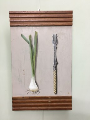 Franzis Gabel 1, Acryl auf Holz ca 20x34cm Franzis Fork