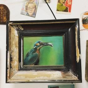 Eisvogel, Pastellkreiden Kingfisher, pastels