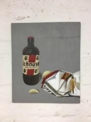 Ichnusa Bier und Chips ,Acryl auf Holz ca 30x40cm Beer and Chips