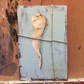 Petersilienwurzel, Acryl auf Holz Parsley root, acrylic on wood