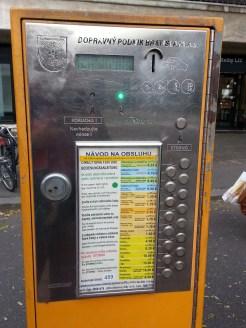 Bus ticket machine