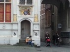 Musician outside the Basilica of the Holy Blood
