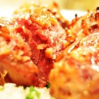 Svineknoke med honning glaze og en enkel og rask thai curry