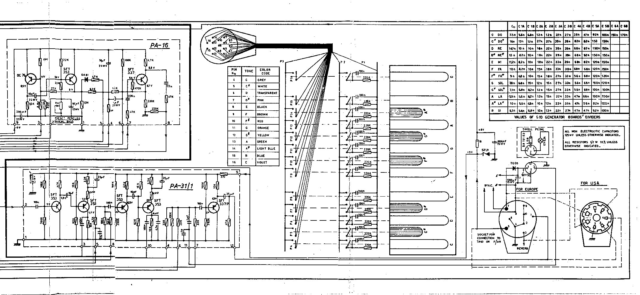 Guitar Amp Schematics Archive Trusted Wiring Diagrams Bass Diagram Farfisa U2022 5 Watt