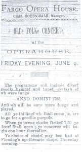 Fargo Opera ad June 17,1893