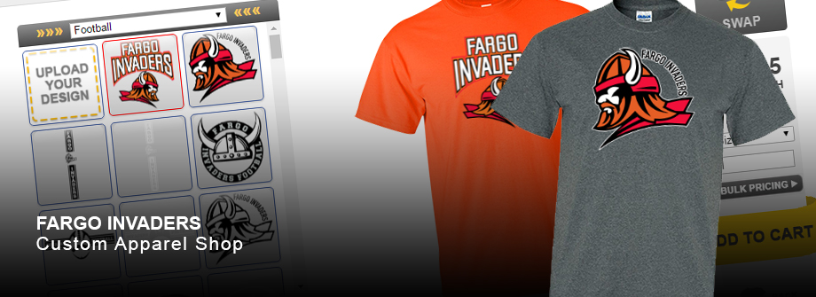 Fargo Invaders Custom Apparel Shop