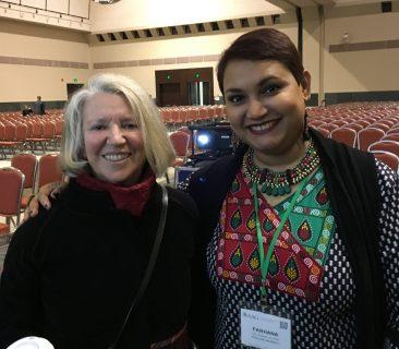 Dr. Farhana Sultana with Dr. Nancy Fraser, renowned feminist scholar, in Boston, 2017