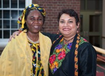 With Hauwa Ibrahim, human rights lawyer and Sakharov Laureate 2005, at Syracuse University, 2014