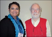 With David Harvey, renowned geographer, at Syracuse University, 2014
