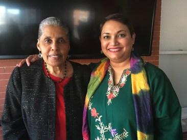 Dr. Farhana Sultana with Dr. Barbara Smith, renowned civil rights activist & scholar, at Syracuse University, 2018