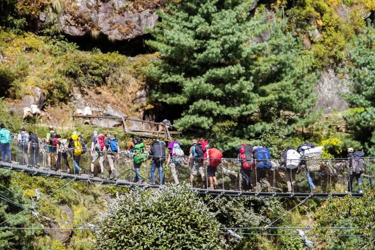 Porters and guests - Khumbu