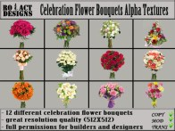 Celebration Bouquets Alpha Textures Poster