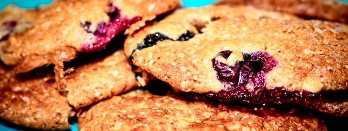 Biscotti mirtilli e cioccolato bianco, farinaeuova
