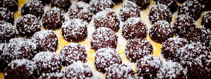 coconut and cocoa truffles