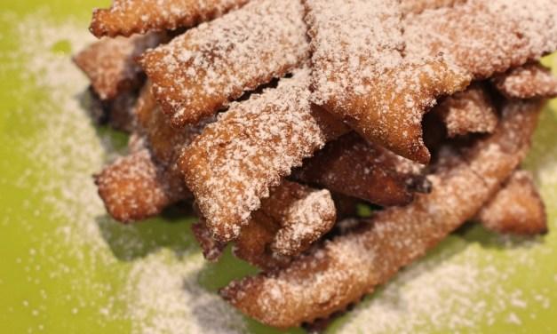 Chiacchiere con farina di grano saraceno