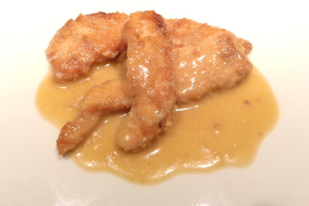 Pollo con farina di fagioli