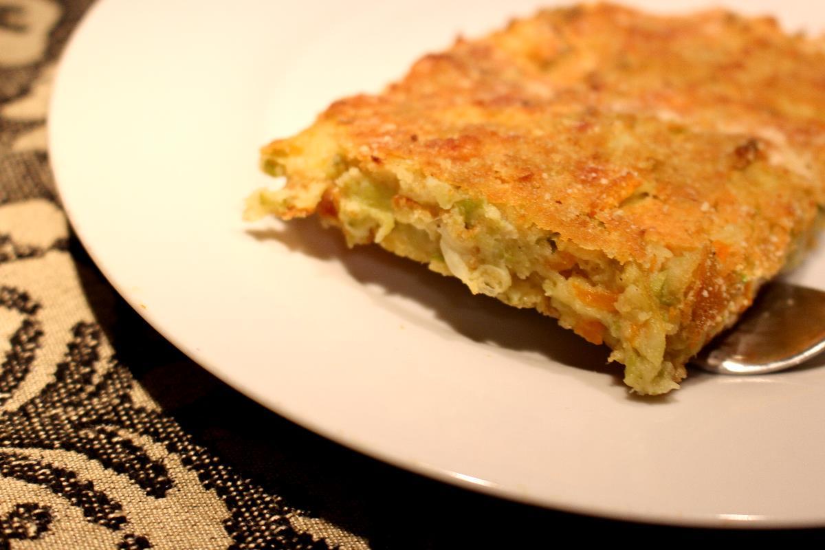 farifrittata con farina di lenticchie e verza