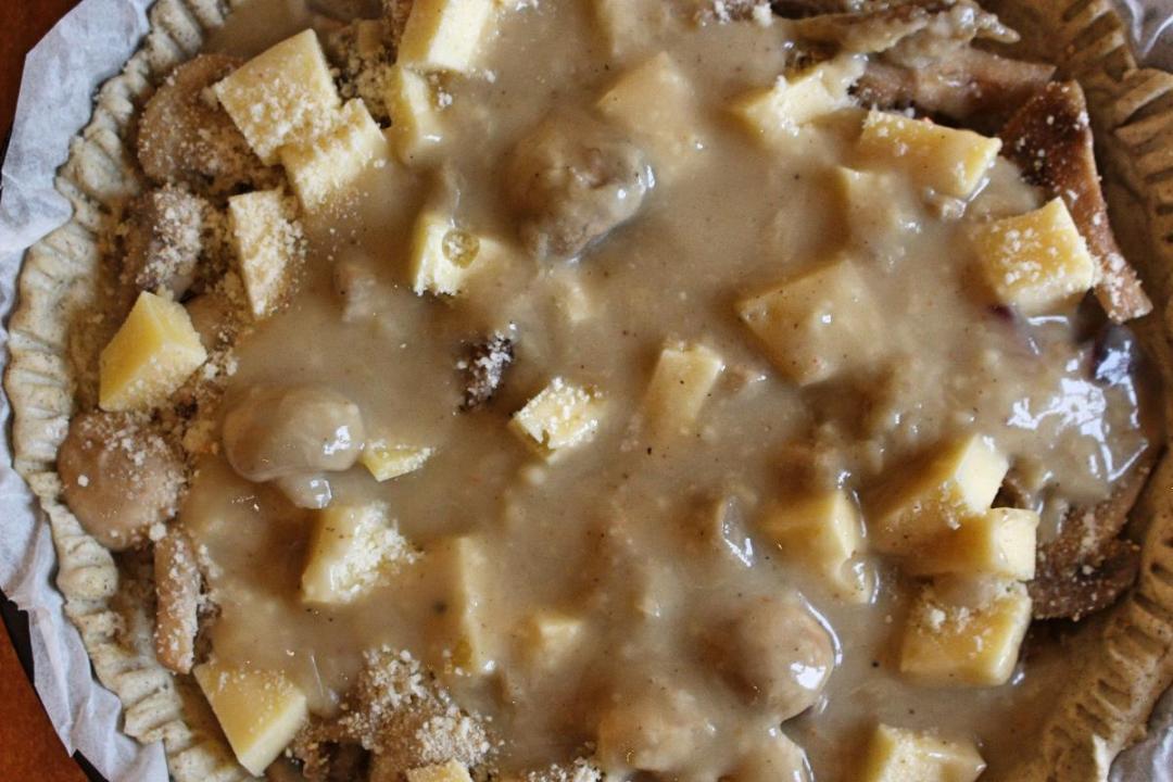 Torta salata con grano saraceno senza glutine