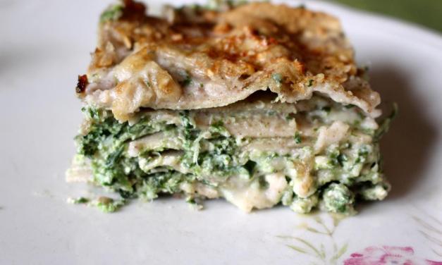 Lasagne di grano saraceno con spinaci – pasta fresca