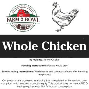 Raw feeding whole chicken