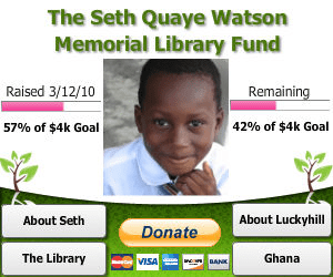 Publish an interactive Sprout Builder widget about Seth's Memorial Library Fund on your home page or blog
