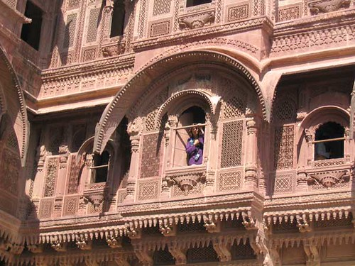 Peeping from the balcony