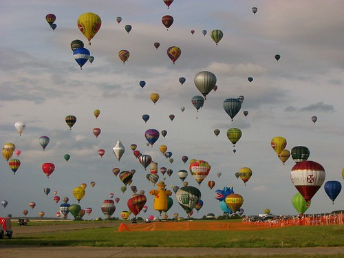 A few balloons, by mortimer