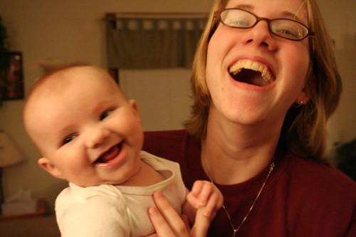 Elena's First Laugh