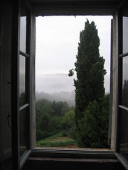 misty morning at Spannocchia