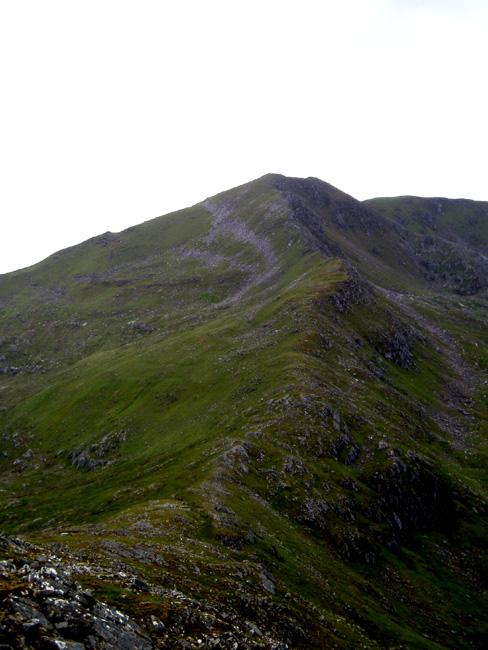 Sgurr nan Ceathreamhnan from Mullach nan Dheiragain ridge 1
